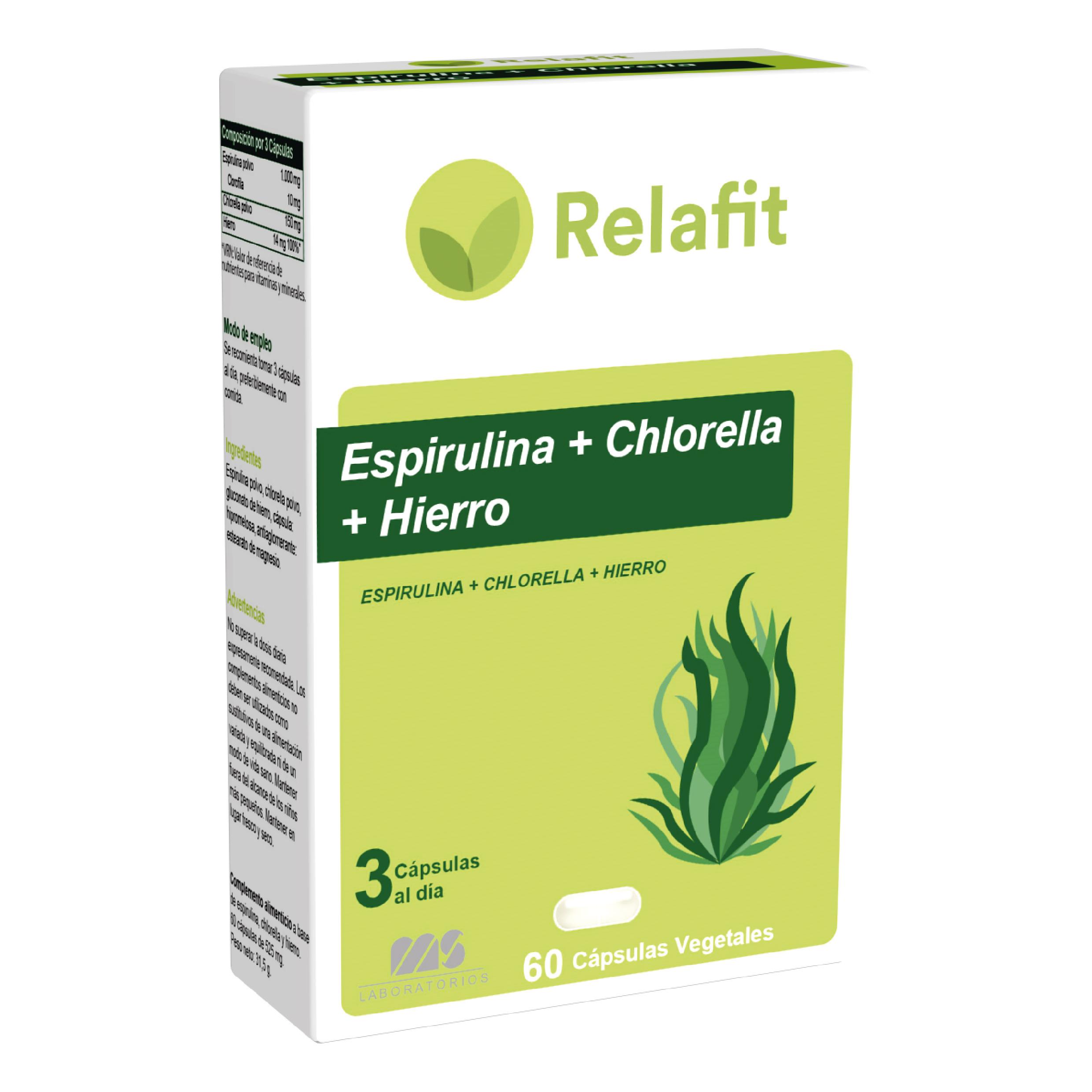 Espirulinaa + Chlorella + Hierro