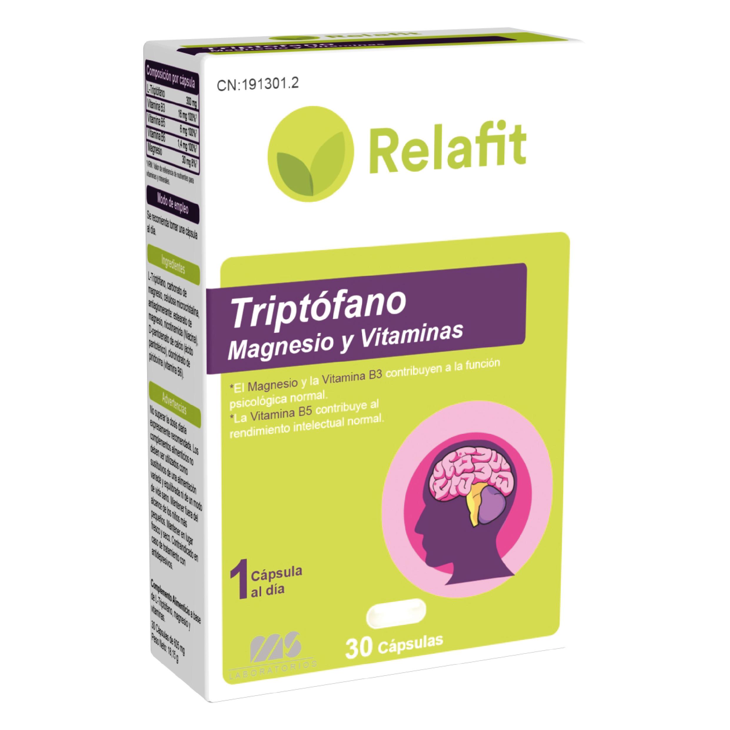 Triptofano + Mg + Vit